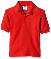 Fruit of the Loom Boy's Pique Polo Plain Polo Short Sleeve T-Shirt