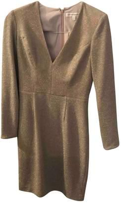 Dress the Population Gold Cotton - elasthane Dress for Women
