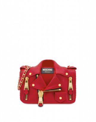 Moschino Nappa Biker Bag Woman Red Size U It - (one Size Us)