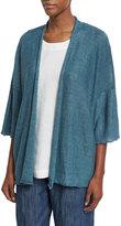 eskandar Linen Half-Sleeve Cardigan