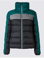 M&S Collection Colour Block Jacket with Concealed Hood