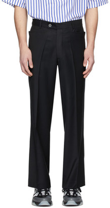 Martin Asbjorn Black Wool Greenleaf Trousers