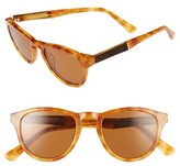 Shwood Women's Ace 48Mm Sunglasses - Amber/ Elm/ Brown Polar