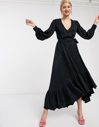 Palones London Fields Wrap Dress in Black