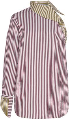 Silvia Tcherassi Tania Striped Cotton-Poplin Top