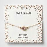 River Island Womens Pink gem October birthstone bracelet