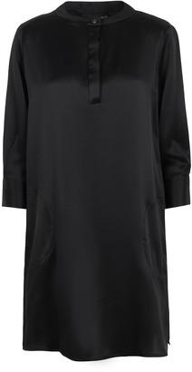 Shirt Dress In Black Silk