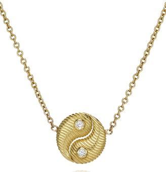 Retrouvaí 14kt yellow gold Mini Yin Yang diamond necklace