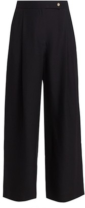 Giorgio Armani Silk Single Pleat Trousers