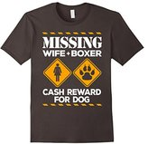 Men's Boxer & Wife Missing Cash Reward Funny T-Shirt XL