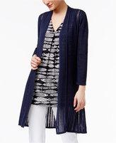 Alfani Illusion-Knit Cardigan, Created for Macy's