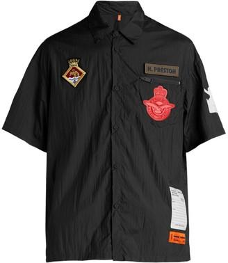 Heron Preston Short-Sleeve Logo Patch Baseball Shirt