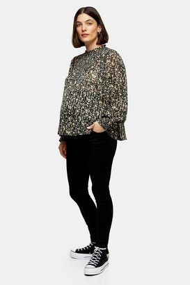 Topshop Womens **Maternity Black Wash Over The Bump Leigh Jeans - Black