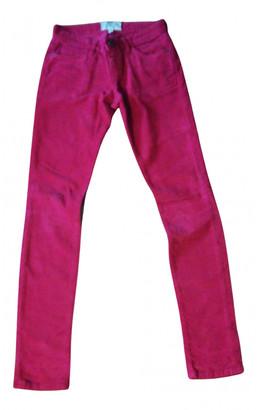 Current/Elliott Current Elliott Red Cotton Trousers