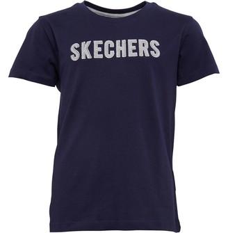 Skechers Boys Douglas Jersey Applique T-Shirt Navy