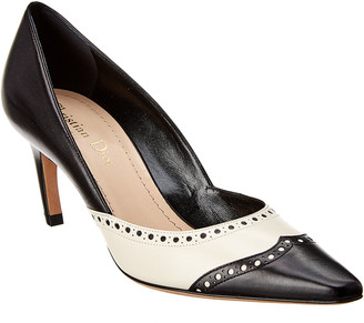 Christian Dior Spectadior Colorblocked Leather Pump