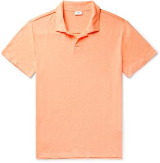 Onia Shaun Linen-Blend Jersey Polo Shirt