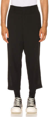 Rick Owens Slim Cropped Astaires Trousers in Black | FWRD