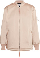 Alexander Wang Oversized Satin Bomber Jacket - Blush