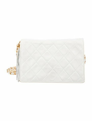 Chanel Vintage Quilted Crossbody Bag gold