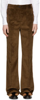 Prada Brown Corduroy Wide-leg Trousers