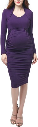 Kimi and Kai Viola Shawl Collar Maternity Dress