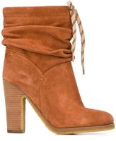 See by Chloe 'Jona' slouchy boots - women - Leather/Suede/rubber - 41