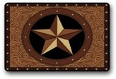 Western Texas Star Non-Slip Rubber Entrance Door Mat Doormats 23.6 x 15.7 Inch