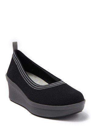 Clarks Step Rose Fern Wedge Flat