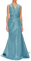 Carolina Herrera Silk V-Neck Gown