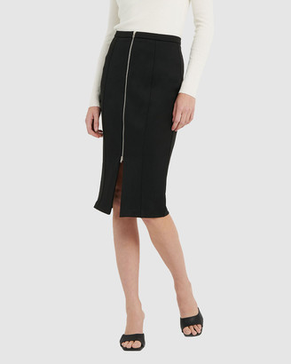 Forcast Women's Black Pencil skirts - Mila Pencil Skirt - Size One Size, 6 at The Iconic