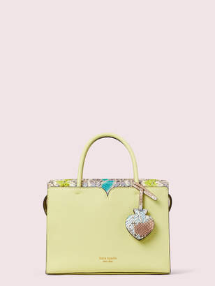 Kate Spade Spencer Snake-Embossed Medium Satchel