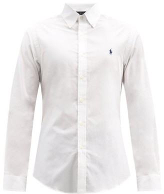 Polo Ralph Lauren Logo-embroidered Button-down Cotton Shirt - White