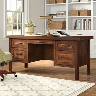 Three Posts Pooler Solid Wood Executive Desk
