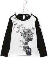 Armani Junior butterfly print T-shirt - kids - Spandex/Elastane/Viscose/Polyester - 6 yrs