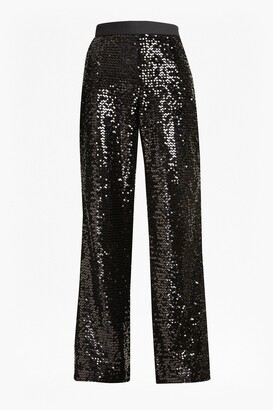 French Connection Alodia Sequin Flared Trousers