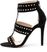 Wanted Salento Black-gold studs Sandals Womens Shoes Dress Heeled Sandals