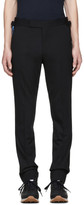 Paul Smith Black Embroidered Feather Trousers