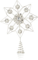 K & K Interiors Embellished Metal Snowflake Tree Topper-SILVER