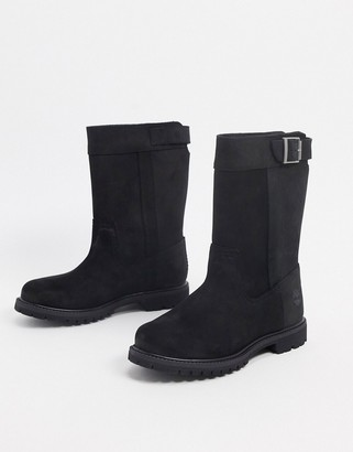 Timberland nellie pull on boots in black