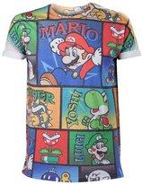 Nintendo Super Mario Bros. All-Over Mario And Co T-Shirt (Ts877036ntn-S)