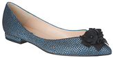 LK Bennett L.K.Bennett Poppie Pointed Toe Flower Pumps, Powder Blue
