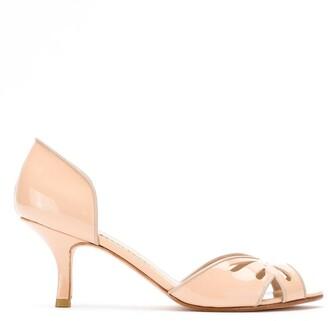 Sarah Chofakian Valencia peep toe shoes