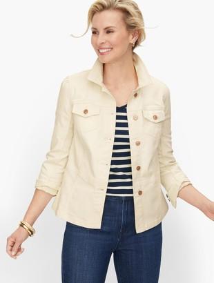 Talbots Tailored Denim Jacket - Vanilla