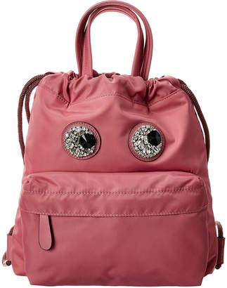 Anya Hindmarch Crystal Eyes Mini Drawstring Backpack