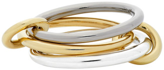 Spinelli Kilcollin Silver and Gold Fauna Three-Link Ring