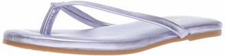 Yosi Samra Women's Rivington Flip-Flop Watermelon Metallic Leather 5 Medium US