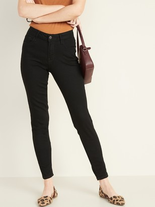 Old Navy Mid-Rise Black Rockstar Super Skinny Jeans for Women
