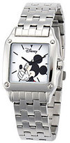 Disney Women's Square Stainless Steel Mickey Watch