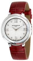Baume & Mercier Women's Promesse Diamond 34.4mm Red Swiss Quartz Watch 10262